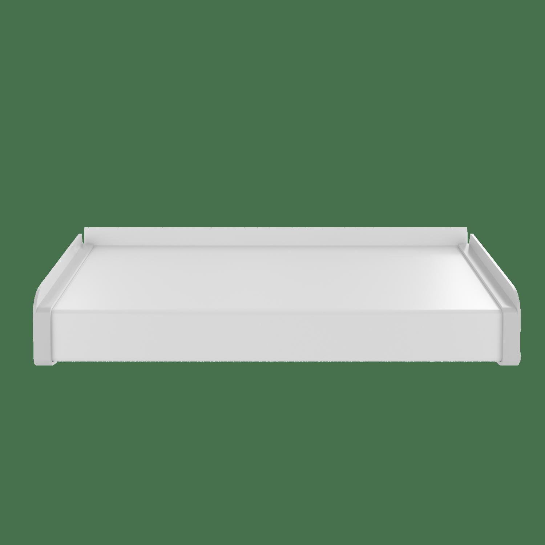 Отлив металлический 4For + STOPPER, 100 мм (Белый) – купить по