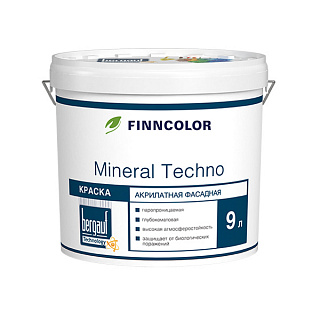 Фасадная краска Finncolor Mineral Techno База А, 9 л